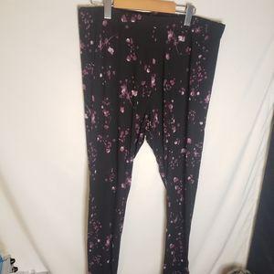 Penningtons stretchy floral pants 1xl